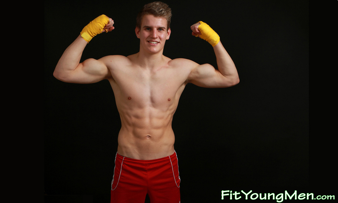 Fit Young Men: Model Harry Stephens - Tall & Muscular Young Pup Harry Shows off his Athletic Body