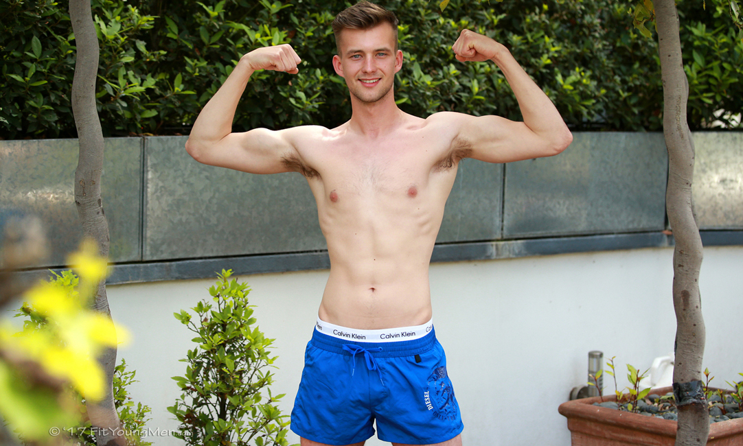 Fit Young Men Model Finlay Thomas Naked Footballer