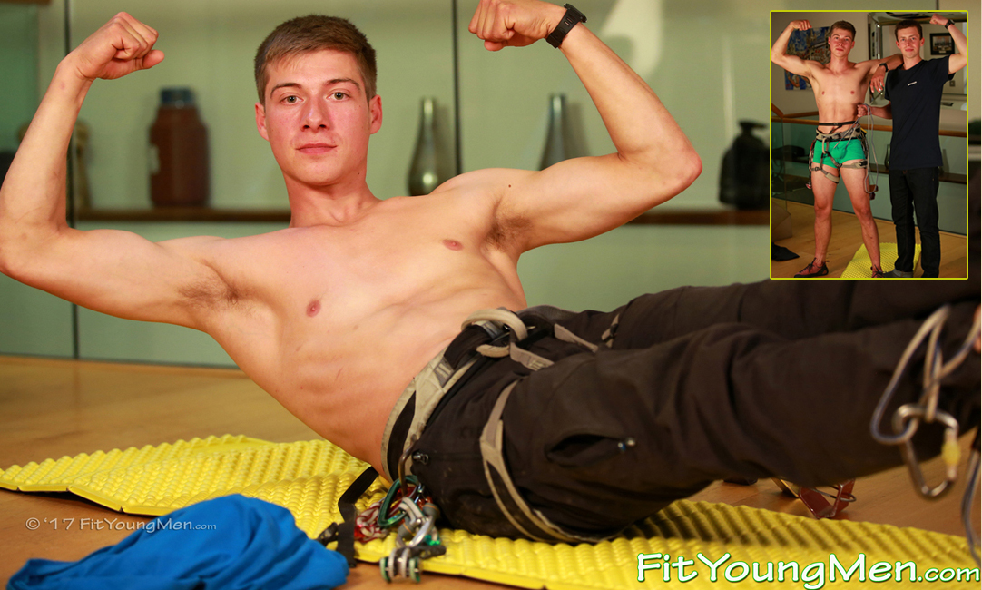 Fit Young Men: Model Henry Kane - Climber - Tall, Toned & Ultra Athletic Climber Henry & Guest Staring his Cousin Jerry!