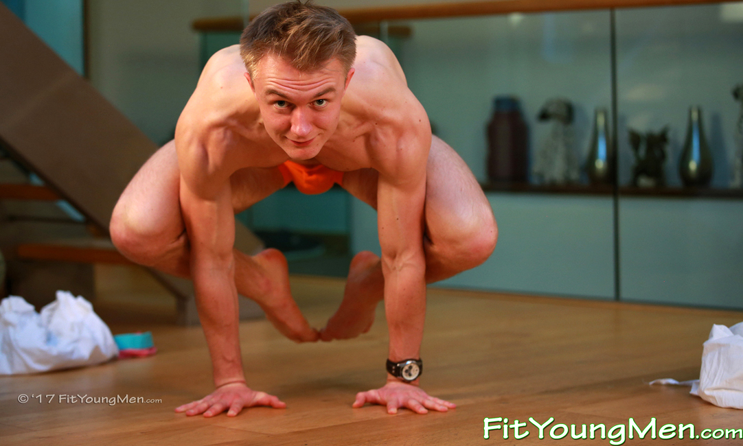 Fit Young Men: Model William Richards - Yoga - Athletic Yoga Instructor Lean, Toned and Muscular & Quite Bendy!