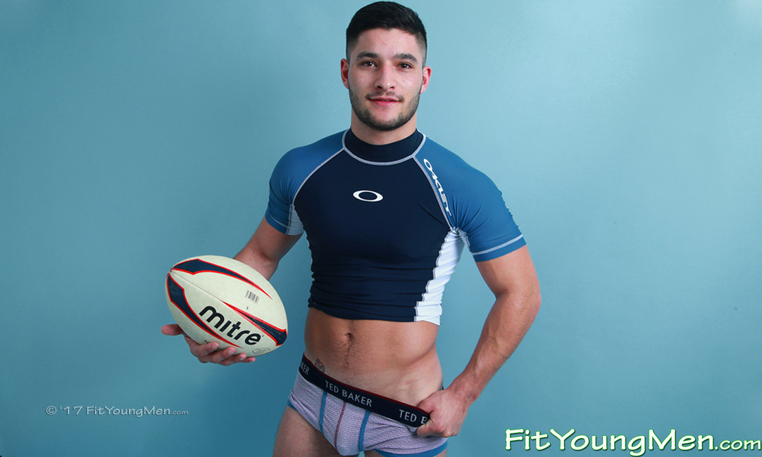Fit Young Men: Model Will Butler - Rugby Player - Young Rugby Stud Will Shows off his Muscles