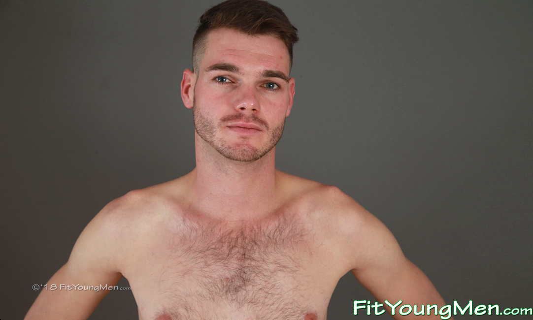 Fit Young Men: Model Lukas Merton - Gym - Hairy Young Man Lukas Shows off his Hard Muscles