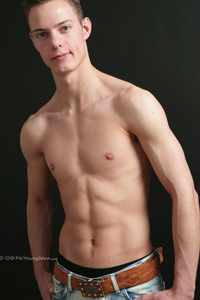 Fit Young Men Model Ed Dee Naked Personal Trainer