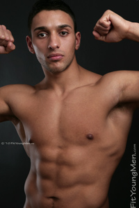 Fit Young Men Model Ash Morris Naked Kick Boxer