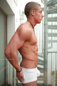 Fit Young Men Model Charlie Boss Naked Personal Trainer