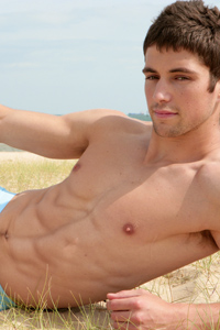 Fit Young Men Model Joe Black Naked Triathlete