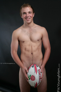 Fit Young Men Model Jez Hanson Naked Rugby Player