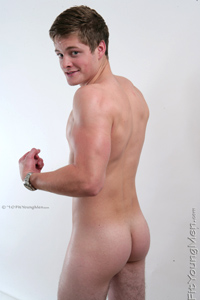 Fit Young Men Model Liam Styles Naked Rugby Player