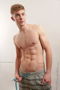 Fit Young Men Model Phil Shaw Naked Karate