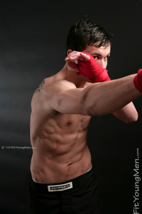 Fit Young Men Model Jon Summers Naked Mixed Martial Arts