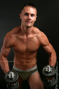 Fit Young Men Model Matty Lee Naked Personal Trainer