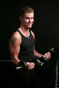 Fit Young Men Model Tony Wood Naked Sports Coach