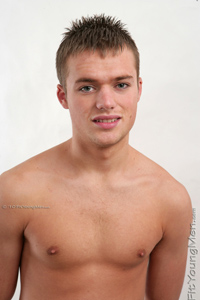 Fit Young Men Model Dan Western Naked Footballer