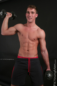 Fit Young Men Model Rich Wills Naked Mixed Martial Arts