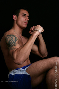 Fit Young Men Model James Flanders Naked Mixed Martial Arts