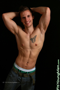 Fit Young Men Model Will Robson Naked Personal Trainer