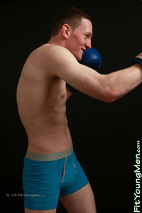 Fit Young Men Model Mark Woods Naked Boxer