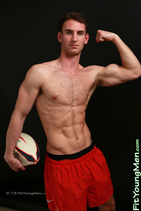 Fit Young Men Model Paul Jones Naked Rugby Player