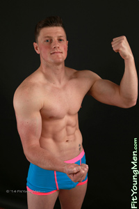 Fit Young Men Model Tom Sharp Naked Hockey Player