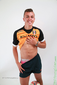 Fit Young Men Model Niall Walsh Naked Footballer