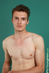 Fit Young Men Model Jamie Hanson Naked Basketballer