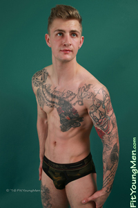 Fit Young Men Model Danny McCaw Naked Mixed Martial Arts
