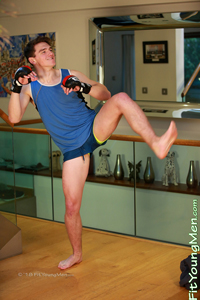 Fit Young Men Model Luke Oakley Naked Mixed Martial Arts