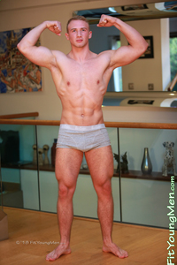 Fit Young Men Model David Kolar Naked Personal Trainer