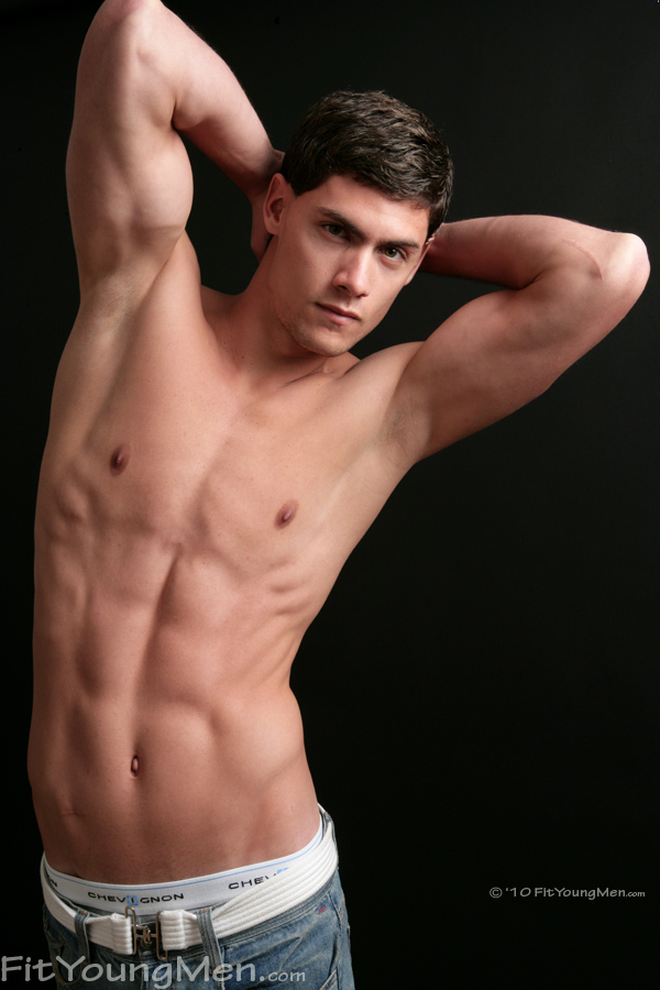Fit Young Men Model Camilio Alderon Naked Swimmer