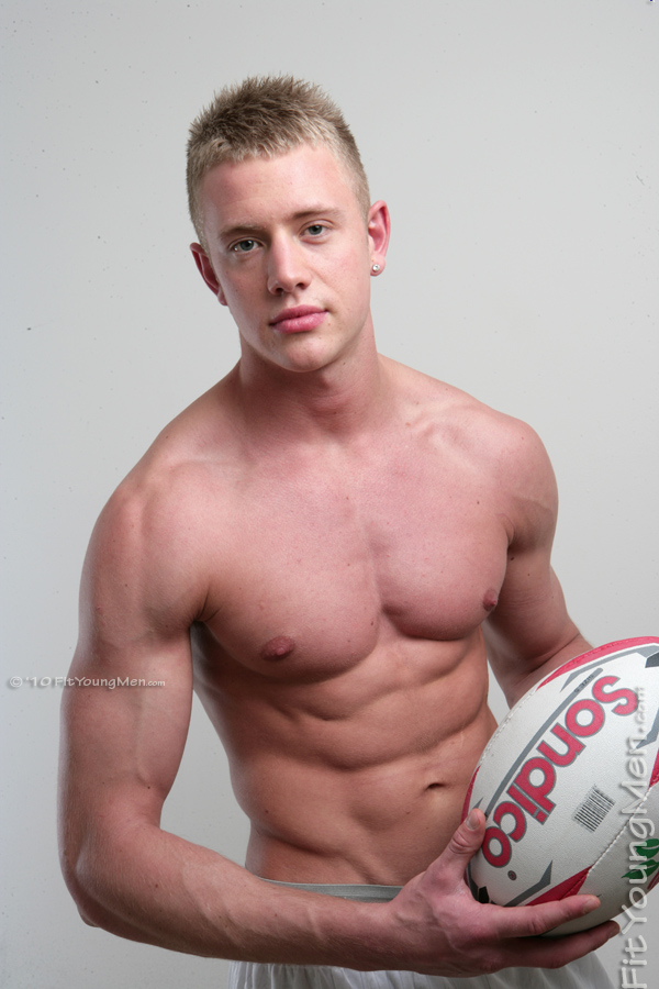 Fit Young Men Model Callum Stuart Naked Rugby Player
