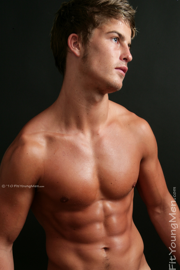 Fit Young Men Model Ben Kirby Naked Swimmer