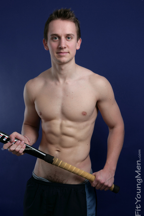 Fit Young Men Model Jamie Gordon Naked Hockey Player