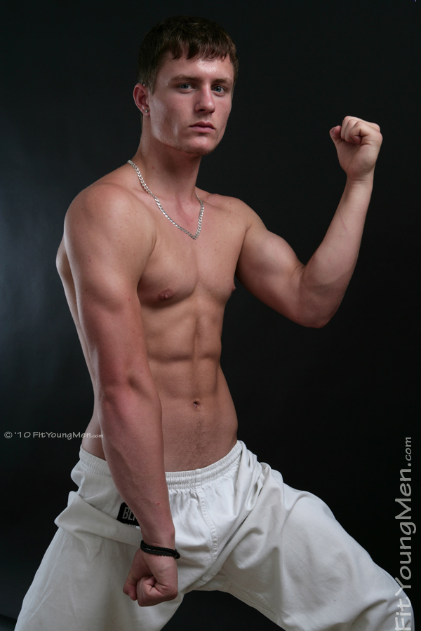 Fit Young Men Model Aaron Janes Naked Mixed Martial Arts