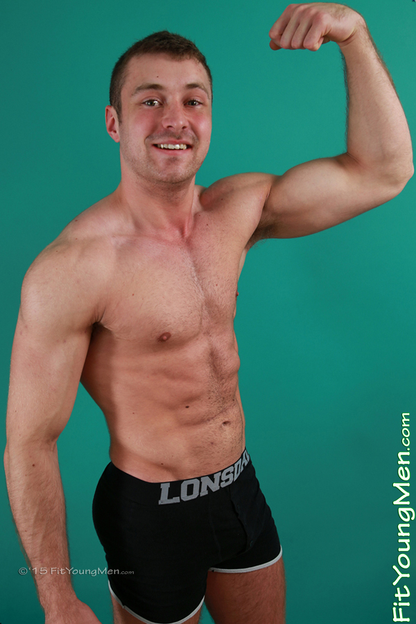 Fit Young Men Model Matt Macey Naked Power Lifter