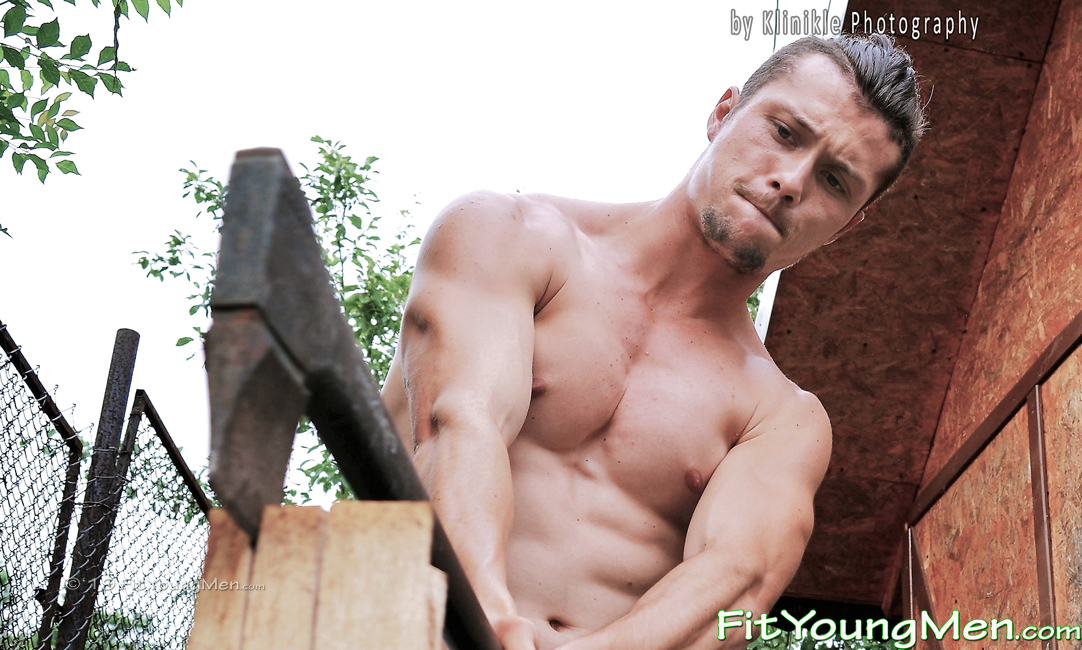 Fit Young Men: Model Mario - Athletic Mario's Shirtless Walk in the Woods and Sexy Shower!