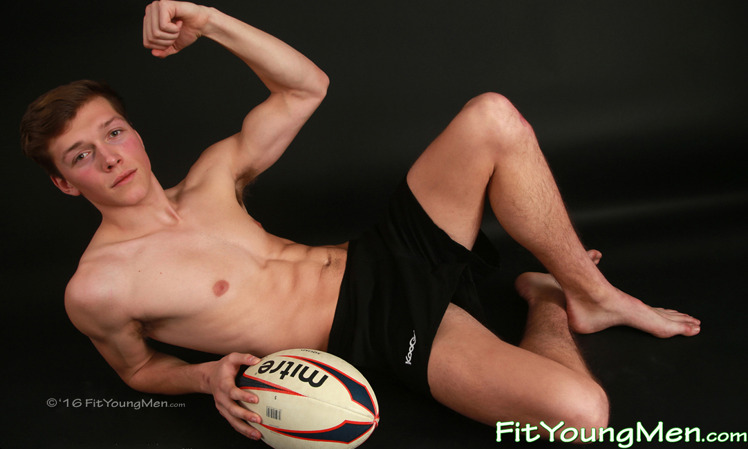 Fit Young Men Model Aiden Kennedy Naked Rugby Player