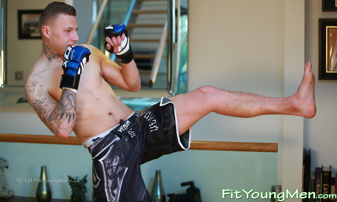 Fit Young Men: Model Miles Smith - Mixed Martial Arts - Mixed Martial Arts Teacher Miles Shows off his Great Body
