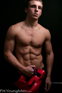 Fit Young Men Model Dane Dekota Naked Boxer