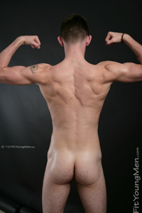 Fit Young Men Model Reece Farrell Naked Boxer