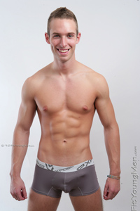 Fit Young Men Model Henry Reed Naked Tennis Player