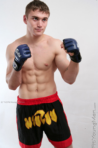Fit Young Men Model Mario Tupin Naked Cage Fighter