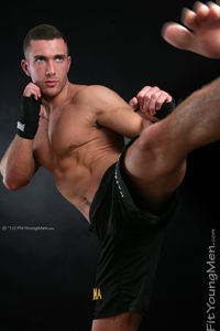 Fit Young Men Model James Branson Naked Mixed Martial Arts