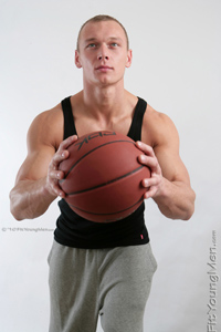 Fit Young Men Model Peter Lisak Naked Basketballer