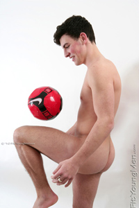 Fit Young Men Model Jamie Tate Naked Footballer