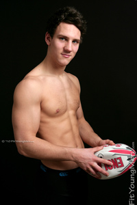 Fit Young Men Model Jamie Smith Naked Rugby Player