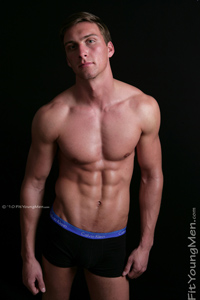 Fit Young Men Model Lewis Russell Naked Boxer
