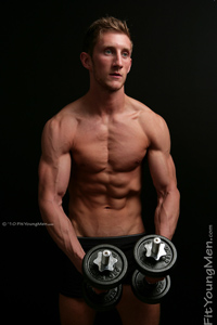 Fit Young Men Model Tom Howe Naked Personal Trainer