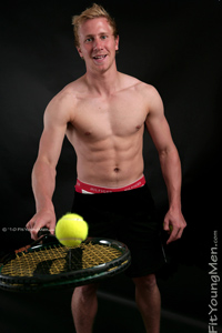 Fit Young Men Model Simon Smith Naked Tennis Coach