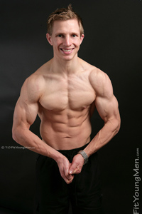 Fit Young Men Model Charlie Stephens Naked Body Builder