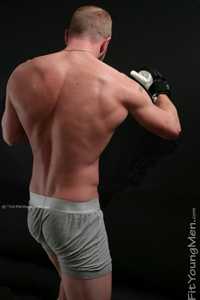 Fit Young Men Model Mickey Paris Naked Boxer